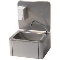 Handwaschbecken mit Seifenspender 500 ml, Wandmontage
