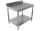 Arbeitstisch - mit Aufkantung & Grundboden [Tiefe 60 cm]