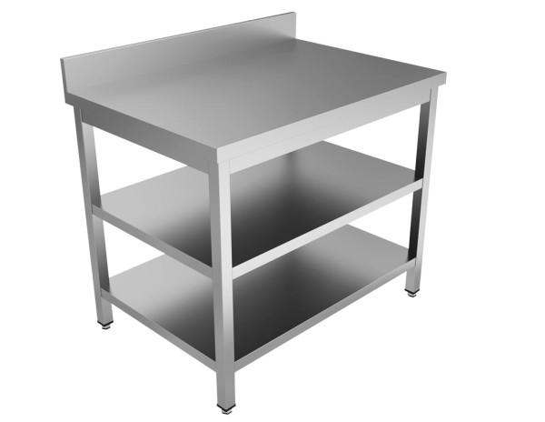 Arbeitstisch - mit Aufkantung, Grund- & Zwischenboden [T60 cm]