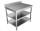 Arbeitstisch - mit Aufkantung, Grund- & Zwischenboden [T70 cm]