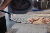 Aluminium durchlöcherte runde Pizza Schaufel 36 cm Stiel 180 cm