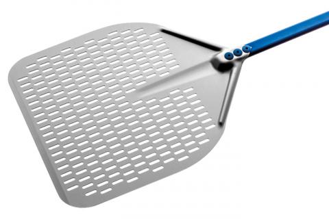 Aluminium durchlöcherte runde Pizza Schaufel 50 cm Stiel 180 cm